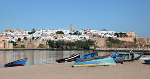 Fishing boats in Rabat, Morocco Royalty Free Stock Photography