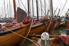 Fishing boats ready to sail, Volendam, Holland Royalty Free Stock Photos