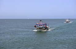 Fishing Boats Returning from Toil, Mediterranean Sea Royalty Free Stock Photo