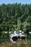FISHING BOATS ON THE RIVER Stock Photography