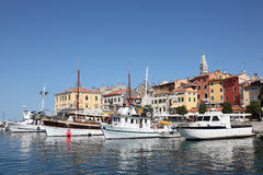 Fishing boats in Rovinj, Croatia Stock Image
