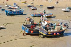 Fishing boats at Saint Ives, Cornwall, England Royalty Free Stock Image