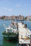 Fishing boats in Saint-Jean de Luz - Ciboure harbour. Aquitaine, Stock Image