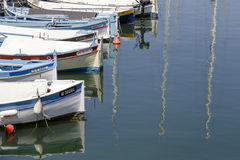 Fishing boats at Saint Jean port, France Royalty Free Stock Photos