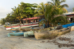Fishing boats in Sambo Creek Honduras Royalty Free Stock Photos