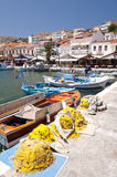 Fishing boats on Samos Royalty Free Stock Images