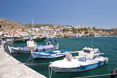 Fishing boats on Samos Stock Photos