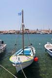 Fishing boats on Samos Stock Photo