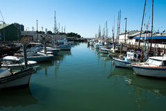 Fishing boats in san francisco Royalty Free Stock Photography