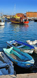 Fishing boats in Santa Margherita port, Liguria, Italy Royalty Free Stock Images
