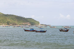 Fishing boats at sea Royalty Free Stock Photo