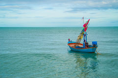 Fishing boats on the sea Royalty Free Stock Image