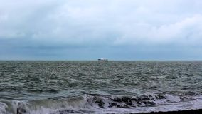 Fishing boats in the Sea stock footage