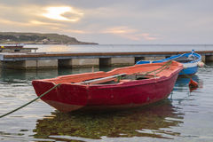Fishing boats in sea Royalty Free Stock Photography