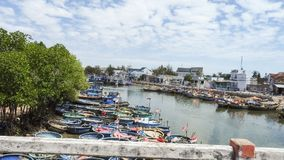 Fishing boats on the sea. In Vietnam Royalty Free Stock Photography