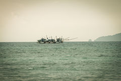 Fishing boats in sea Stock Photo