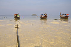 Fishing boats at the sea in Koh Lipe, Satun Province Stock Photo