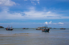 Fishing boats on a sea Royalty Free Stock Photography