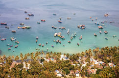 Fishing boats on the sea in Nam Du island, southern Vietnam Stock Photos