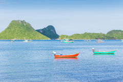 Fishing boats in the sea. Stock Images