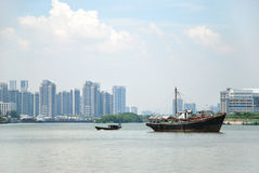 Fishing boats on the sea Royalty Free Stock Images