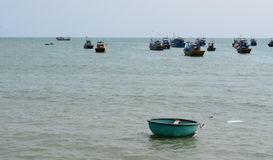Fishing boats on the sea in Vietnam Royalty Free Stock Images
