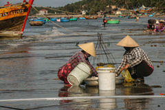 The fishing boats in the sea in vietnam Royalty Free Stock Photo