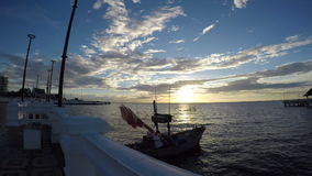 Fishing boats in the sea stock video