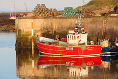 Fishing Boats, Seahouses Harbour. Fishing vessels in moored in Seahouses Harbour, Northumberland, UK Stock Photos
