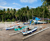 Fishing boats on the shore Royalty Free Stock Photography