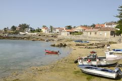 Fishing boats at the shore Stock Images