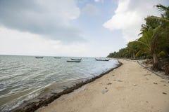 Fishing boats on shore, Koh Pha Ngan, Thailand Royalty Free Stock Photo