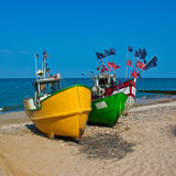Fishing boats on the shore Royalty Free Stock Photos