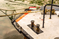 Fishing boats on the shore, wooden boats, fishing and tourist in Stock Photography