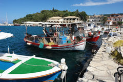 Fishing-boats in Sivota. Stock Images
