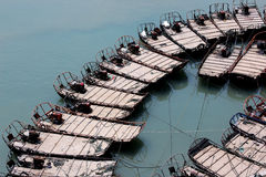 Fishing boats. Some small fishing boats moored on the coast Royalty Free Stock Image