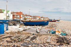 Fishing boats in Sompting, West Sussex, 18.03.2014 Stock Photos