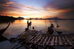 Fishing boats in southern Thailand. Royalty Free Stock Photos