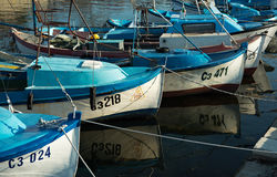 Fishing boats in Sozopol Royalty Free Stock Images