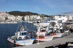 Fishing boats in Spain Stock Photos