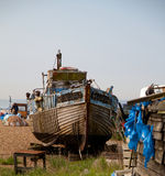 Fishing boats on the Stade Stock Photos