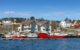 Fishing boats stand moored in Norway Royalty Free Stock Photography