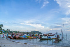 Fishing boats. Stay on the beach Thailand Royalty Free Stock Photos