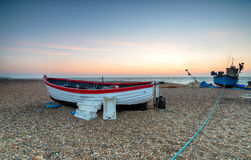 Fishing Boats on the Suffolk Coast Stock Photography