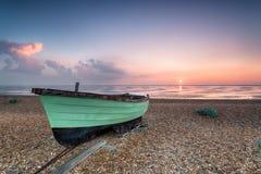 Fishing Boats at Sunrise Royalty Free Stock Photos