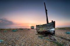 Fishing Boats at Sunrise Stock Image