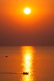 Fishing boats at sunrise. Stock Image