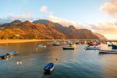Fishing boats on the sunrise Royalty Free Stock Photo