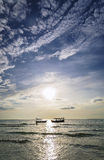 Fishing boats at sunset in koh rong Cambodia Stock Images