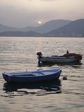 Fishing Boats At Sunset Stock Image